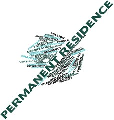 Word cloud for Permanent residence
