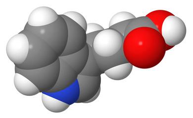 Plant hormone - Auxins - IBA - spacefill molecular model