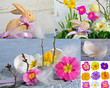 Happy Easter: Easter Collage with different motives