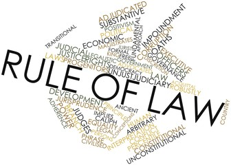 Word cloud for Rule of law