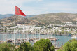 Bodrum and Turkish flag, Turkey