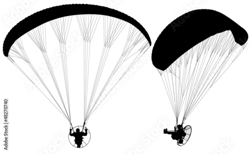 Paraglider with Paramotor - 48270740