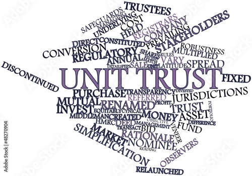 Word cloud for Unit trust