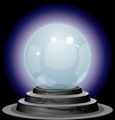 Vector illustration of Crystal ball