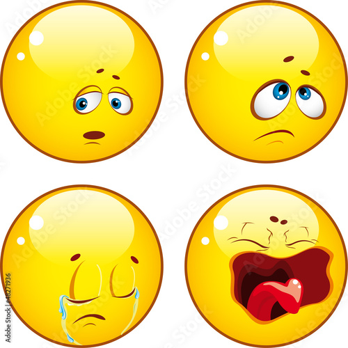 Set of cool emoticons