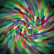 Abstract background from curly cubes, illustration