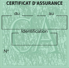 Certificat d'assurance (France)