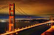 Night scene of Golden Gate Bridge