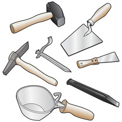 isolated realistic illustration of masons tool.