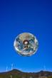 地球と電球と風力発電