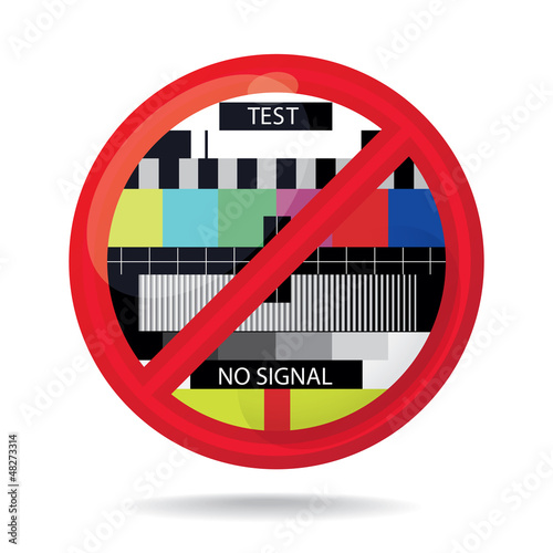 No signal sign, abstract illustration