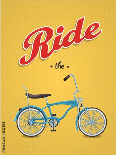 lowrider bike background,vector bicycle,