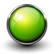 Green shiny button