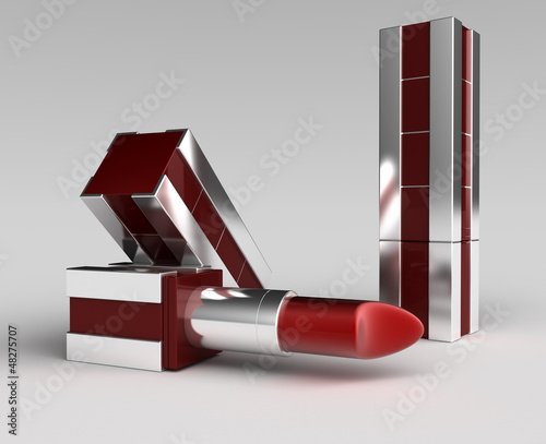 shiny lipstick with cover