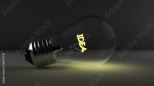 Light bulb , Realistic photo image