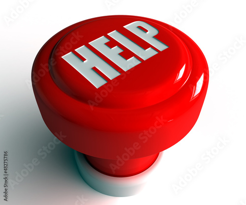 glossy 3D help button
