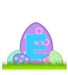 Alphabet Big Egg Hunt E