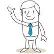 Geschäftsmann, Winken, Zeigegeste, Präsentieren