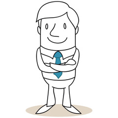 Geschäftsmann, verschränkte Arme, lächelnd