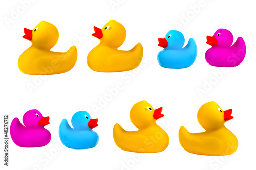 Classic yellow rubber ducks