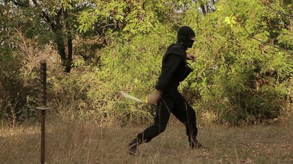 Nunchuck ninja turns in the woods