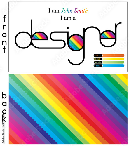I am a designer, business card template