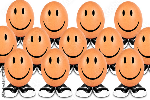 funny eggs smiling