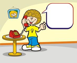 O menino e o telefone