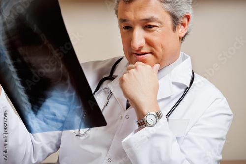 Radiologist Studying X-ray