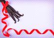 Vanilla pods red ribbon