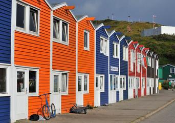 Helgoland Krabbenbuden am Hafen