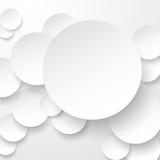 Fototapety Paper white circles.