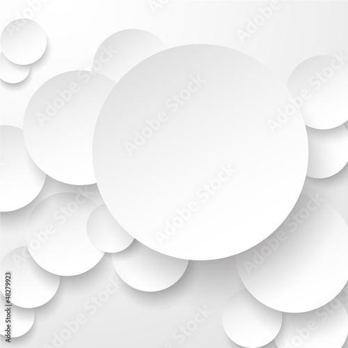 Papierowe białe koła.