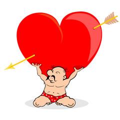 Człowiek trzymający serce