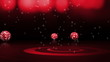 Disco Balls and Disco Time Text Red - HD1080