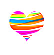 Symbol of St. Valentin's day - varicoloured heart