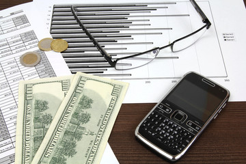 Corporate finance - documents and US dollars