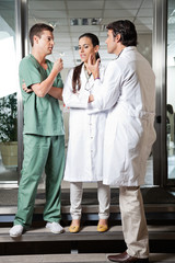 Medical Professionals Interacting With Each Other