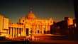 sunrise in St Peter's Square in Vatican