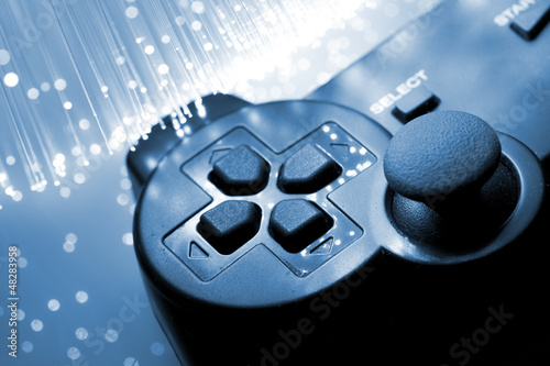 Game controller toned blue - 48283958
