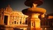 sunrise in St Peter's Square in Vatican