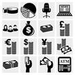 Money icons set .Finance icon set. Vector