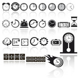 Clock icon set. Vector EPS10