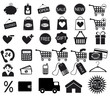 Shopping icon. Vector EPS8