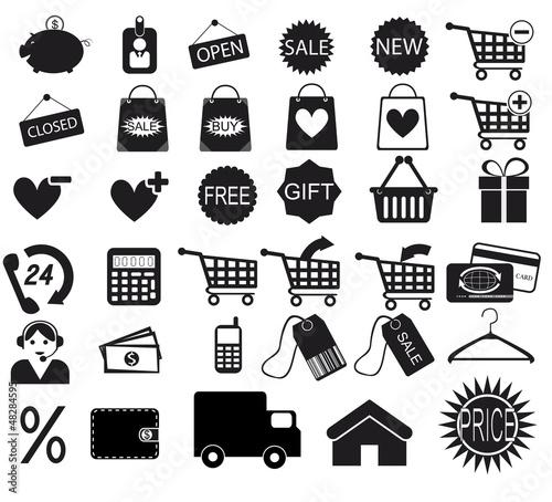 Shopping icon. Vector EPS8
