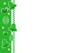 Frise verticale verte - Pâques