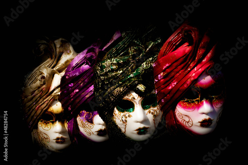 Mysterious venetian masks - 48284754