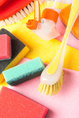 Assortment of means for cleaning and washing