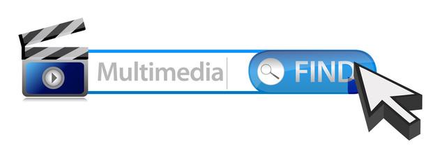 Multimedia search bar