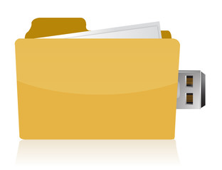 yellow usb folder concept